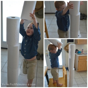 paper towel tower Collage